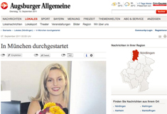 Augsburger Allgemeine Interview mit Delia Fischer